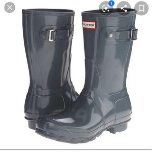 Hunter grey short boots
